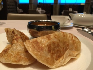Prata with fish curry