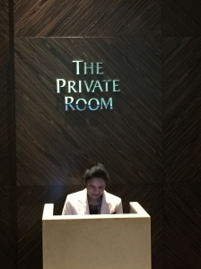 walk further into the lounge, you will see The Private Room
