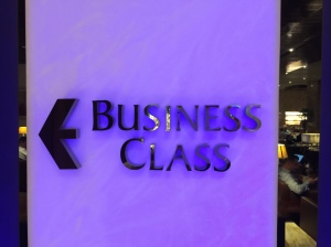 Business Class lounge is in front once you enter the lounge