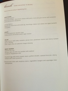 Western selection (what I opted, except for the main course which was my BTC and the soup)