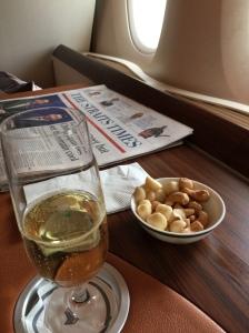 Dom Perignon with nuts