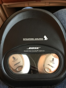 Bose active noise cancelling headset - definitely my favourite