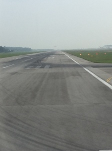 On the runway - preparing for take off