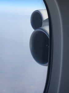Front view of the Trent engines of the A380