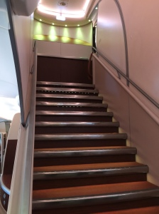 This stairs will bring you to the Business Class section at the upper deck