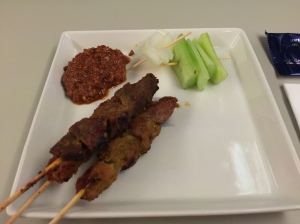 Satay - I should have asked for more ! .. and more gravy please?