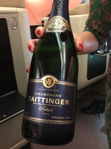 Finally, Taittinger was served after take off
