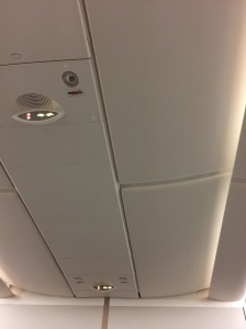 No overhead bins