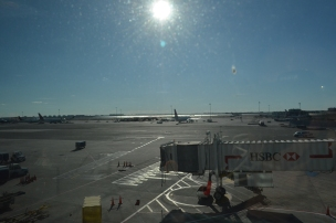 Looking out onto the tarmac