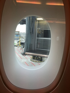 View of the retracting jetway