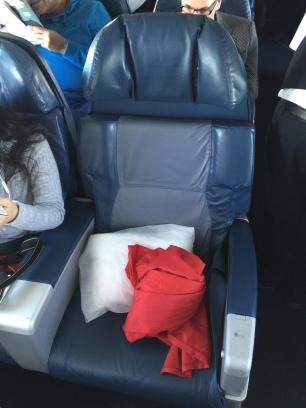 Comfortable seat for short haul flight