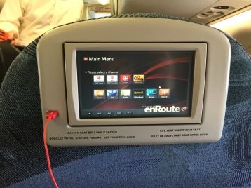 "Small TV (about 8"") and a charging USB port"