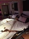 Ta-da! The double bed