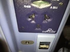 Well hidden AC plug and USB port
