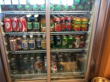 Fridge full of drinks