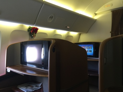 Small First Class cabin with Christmas Deco