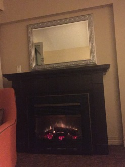 Fireplace in action