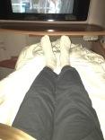 Customary leg shot again