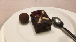 Dessert from the buffet station