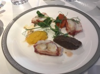 Lobster Medallion with Mousse of eggplant and capsicum