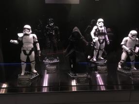 Star Wars figurines along the corridor