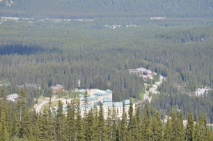 Chateau Lake Louise from hilltop
