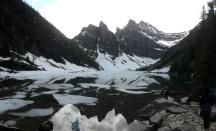 Semi-frozen Lake Agnes