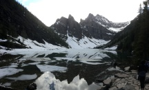 Semi-frozen Lake Agnes
