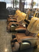 Massage chairs available in the lounge