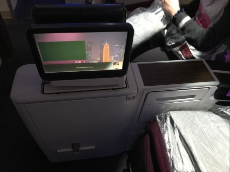 Retractable touch screen TV