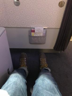 Ample leg room