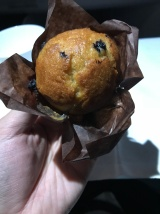 The muffin was tasty and not too dry