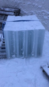 thick ice blocks used for construction