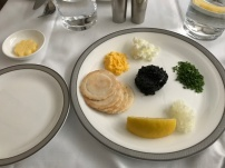 Malossol Caviar with crackers (instead of toast)