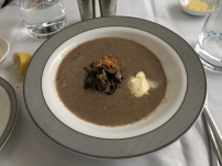 The best course - shitake soup