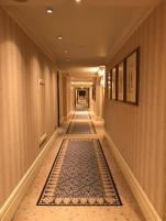 Corridor leading to the room