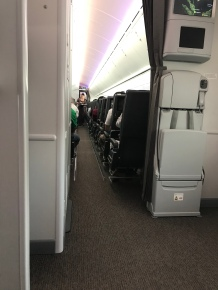 View of the forward Economy cabin