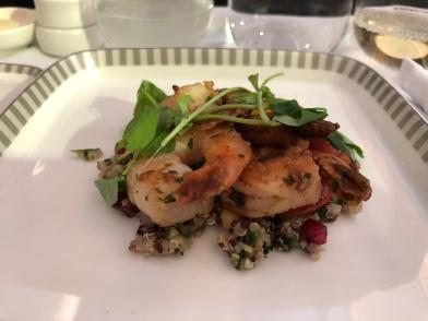 Prawn quinoa salad