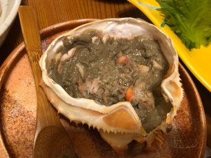 Crab paste in shell (Cooked)