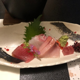 Sashimi of beef set