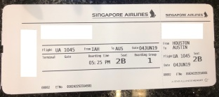 IAH AUS Boarding Pass