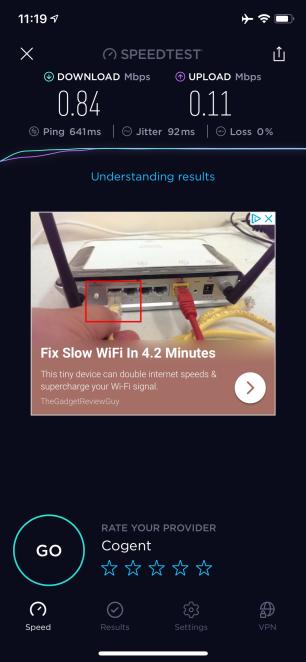Wifi Speed Leg 2