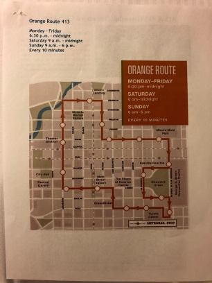 Shuttle Orange Route